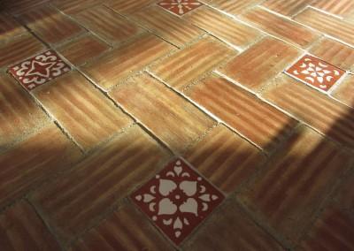 Encaustic tile w/Sta. Catarina