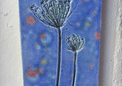 Blue Wild Carrot Panel