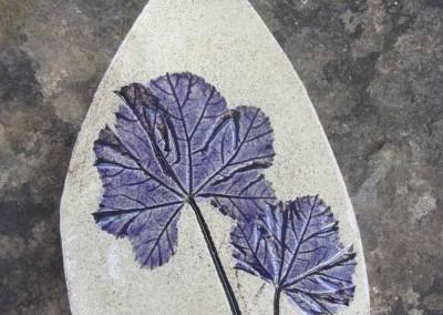 Mallow leaf in Purple