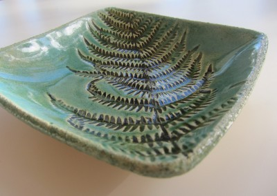 Fern impressed bowl