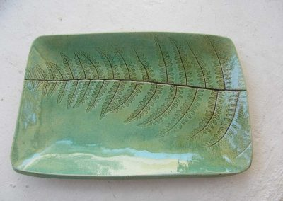 Fern Platter in Green